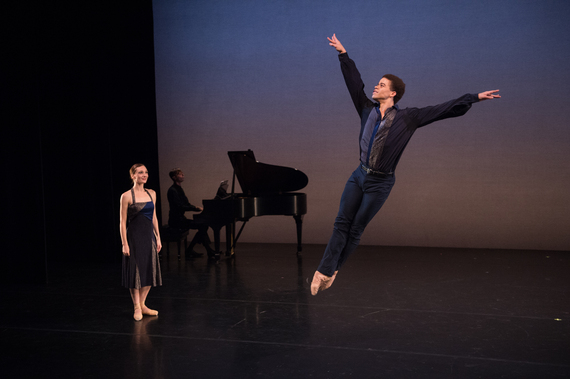 Amanda Treiber, Michael Scales (piano), and Steven Melendez in Such Longing (Photo by Rachel Neville)